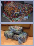 Blankets before and after packed